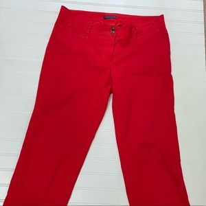 RED TOMMY HILFIGER PANTS